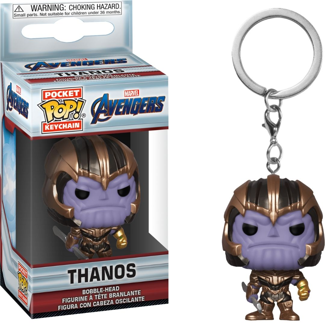 Avengers Endgame: Thanos Pocket Pop! Vinyl Keychain by Funko -Funko - India - www.superherotoystore.com