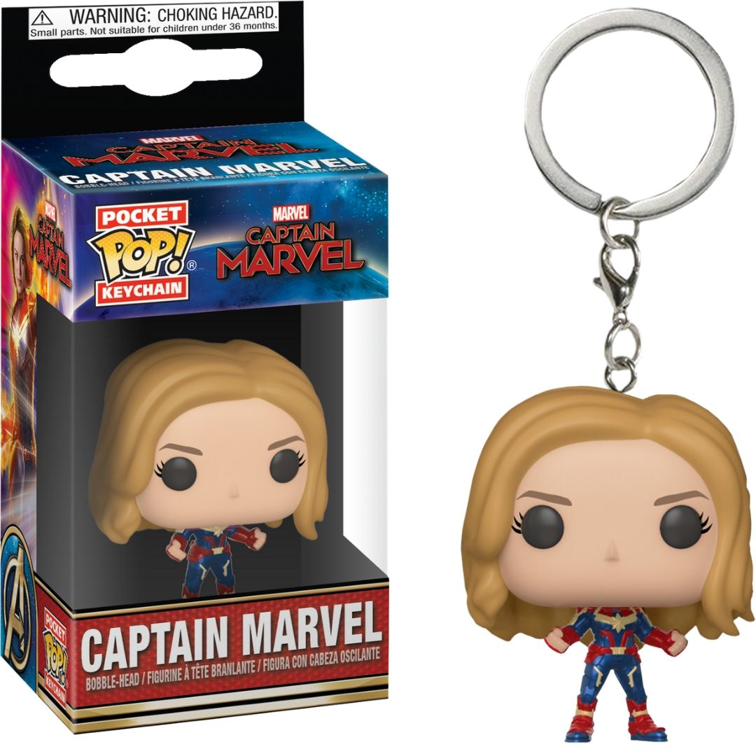 Captain Marvel Pocket Pop! Vinyl Keychain by Funko -Funko - India - www.superherotoystore.com