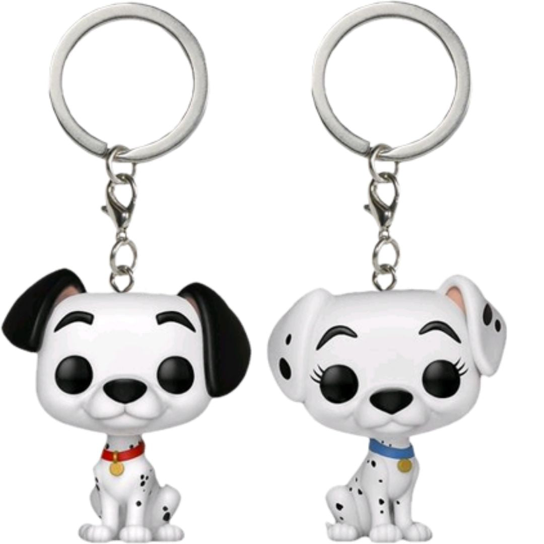 101 Dalmatians - Pongo & Purdy Pocket Pop! Vinyl Keychain 2-Pack by Funko