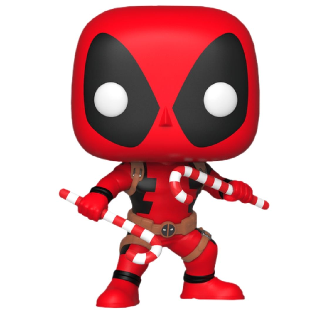 Deadpool with Candy Canes Pop! Vinyl Figure by Funko -Funko - India - www.superherotoystore.com