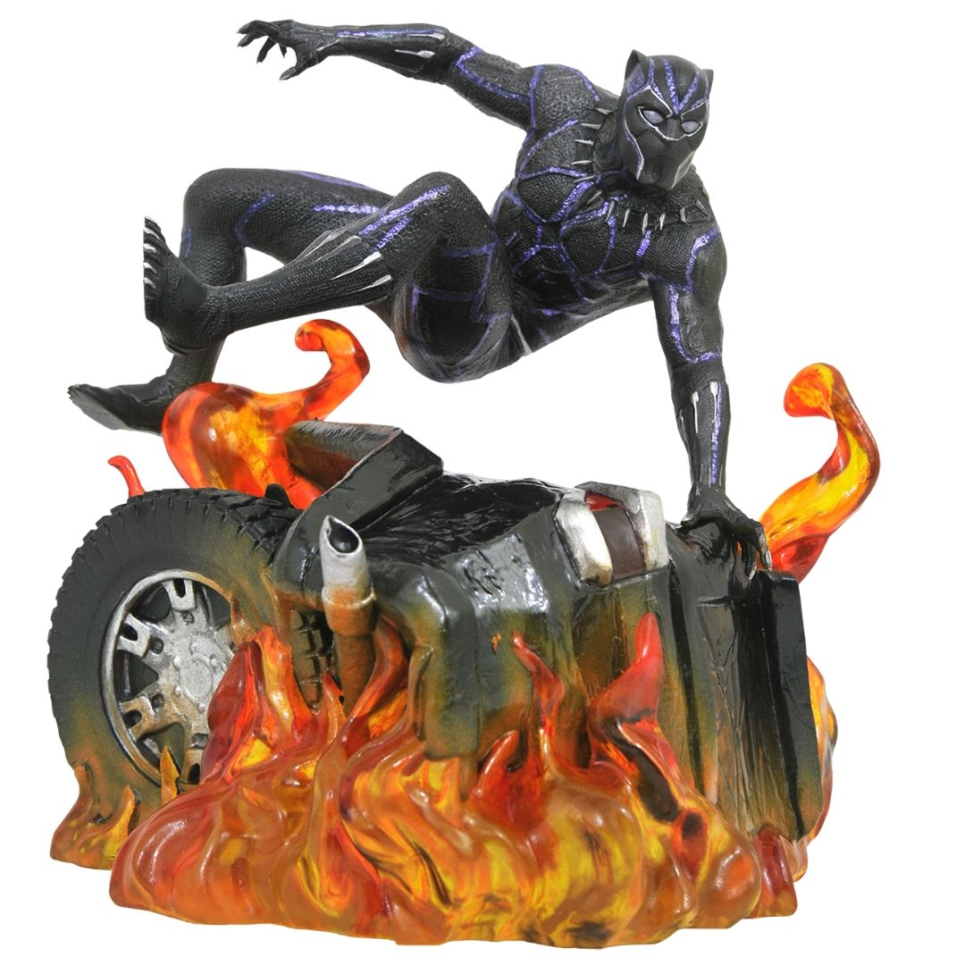 Marvel Gallery Black Panther Car Wreck Statue by Diamond Select Toys
