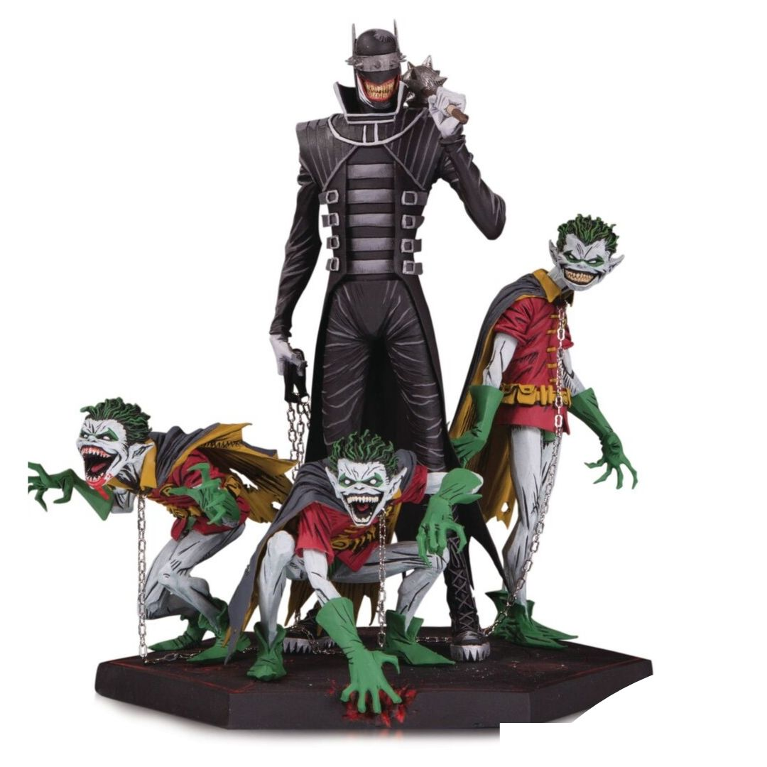 Dark Nights Metal Batman Who Laughs and Robins Deluxe Statue by DC Collectibles