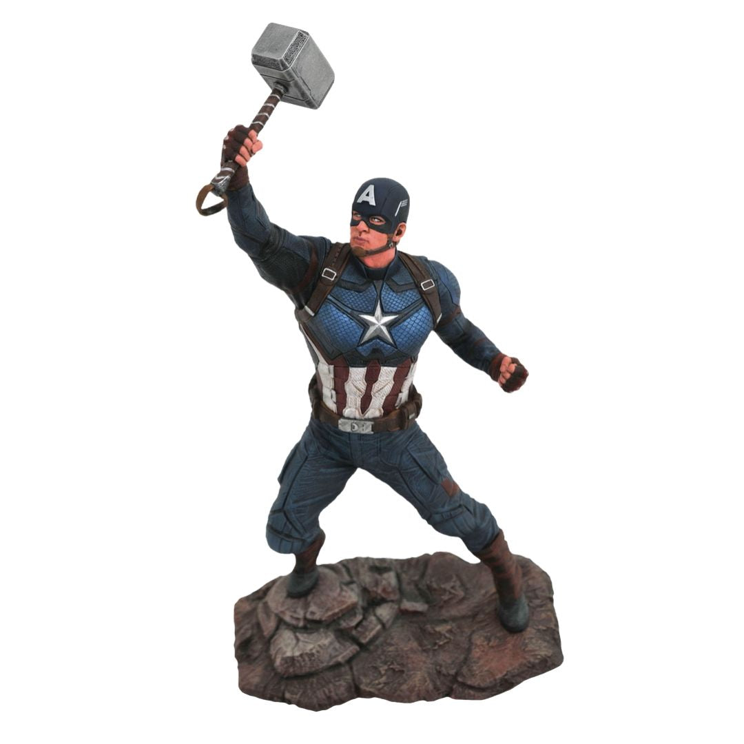 Avengers Endgame Worthy Captain America Gallery Statue by Diamond Select Toys