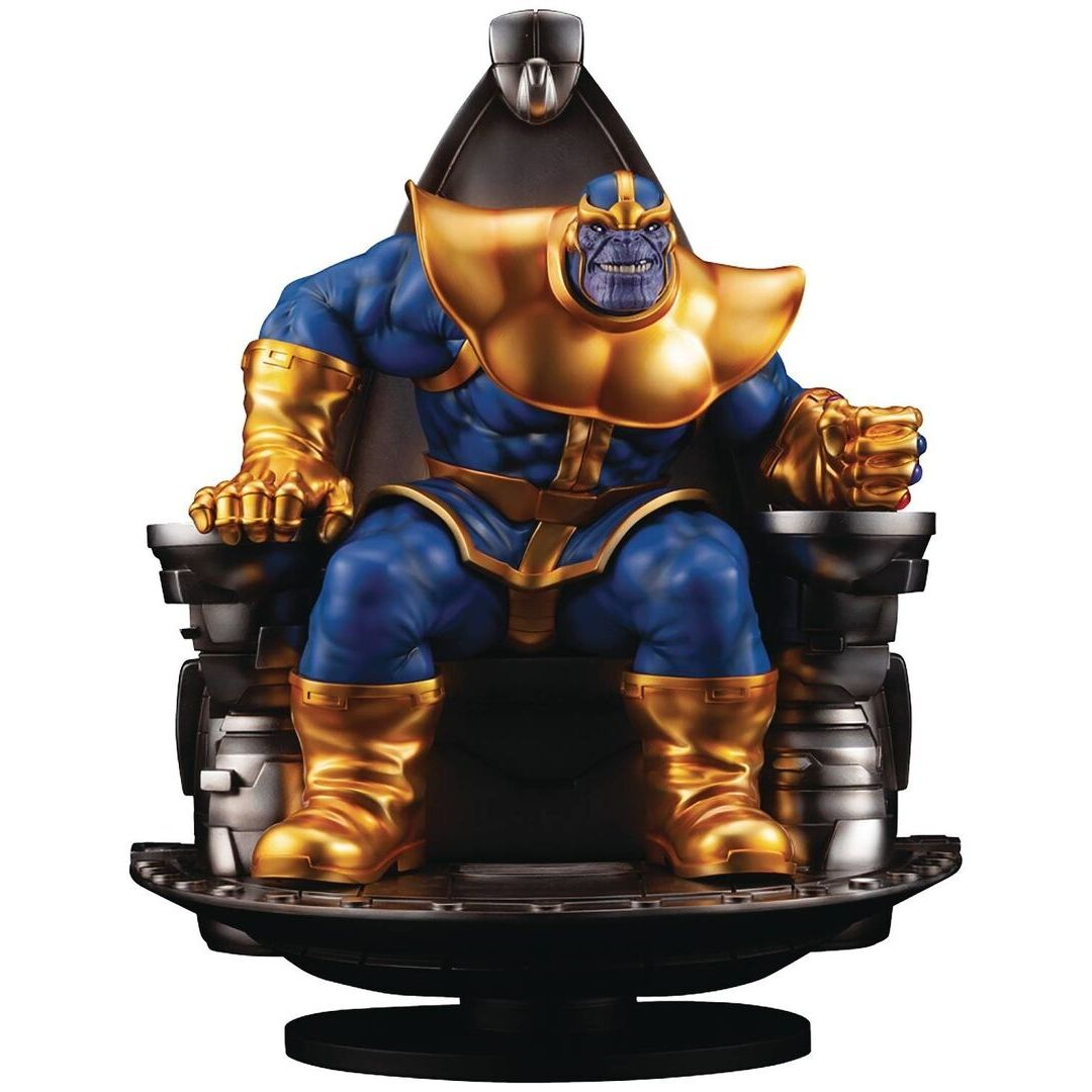 Thanos on Space Throne Fine Art 1:6th Scale Statue by Kotobukiya