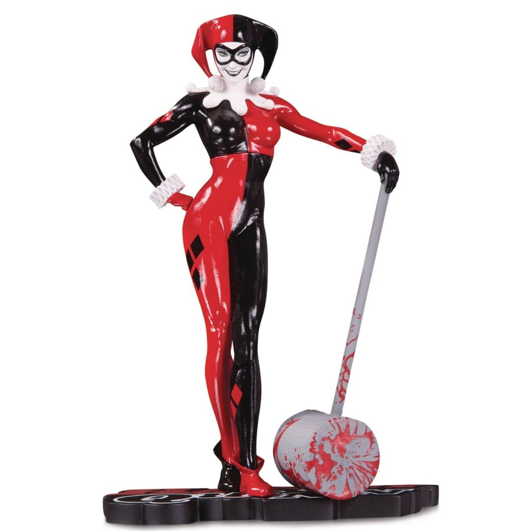 Harley Quinn Red White and Black (Adam Hughes) Statue by DC Collectibles