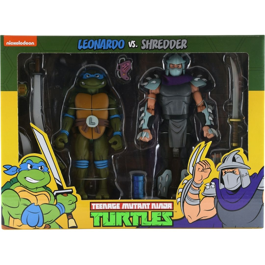 Teenage Mutant Ninja Turtles: Leonardo Vs Shredder Action Figure Set by Neca