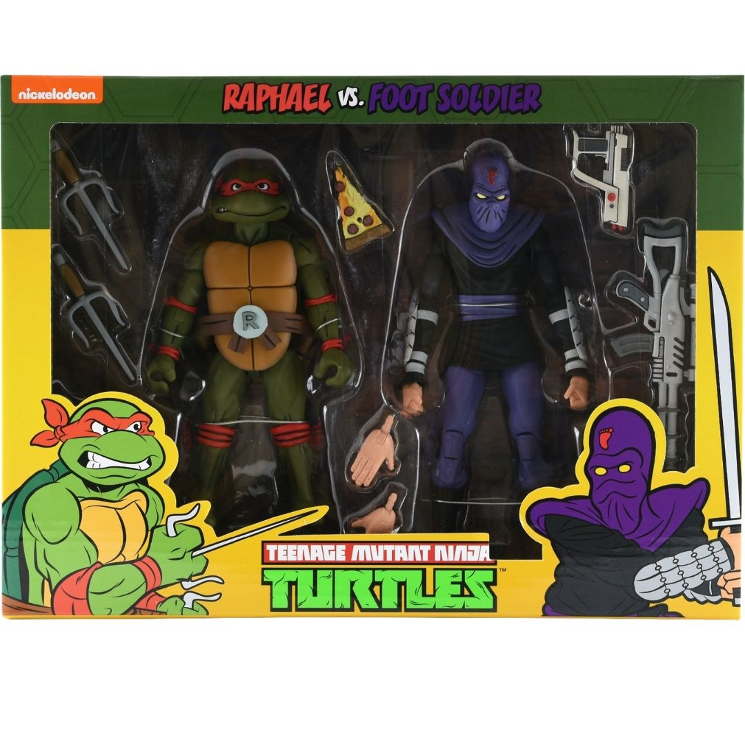 Teenage Mutant Ninja Turtles: Raphael Vs Foot Soldier Figure Set by Neca
