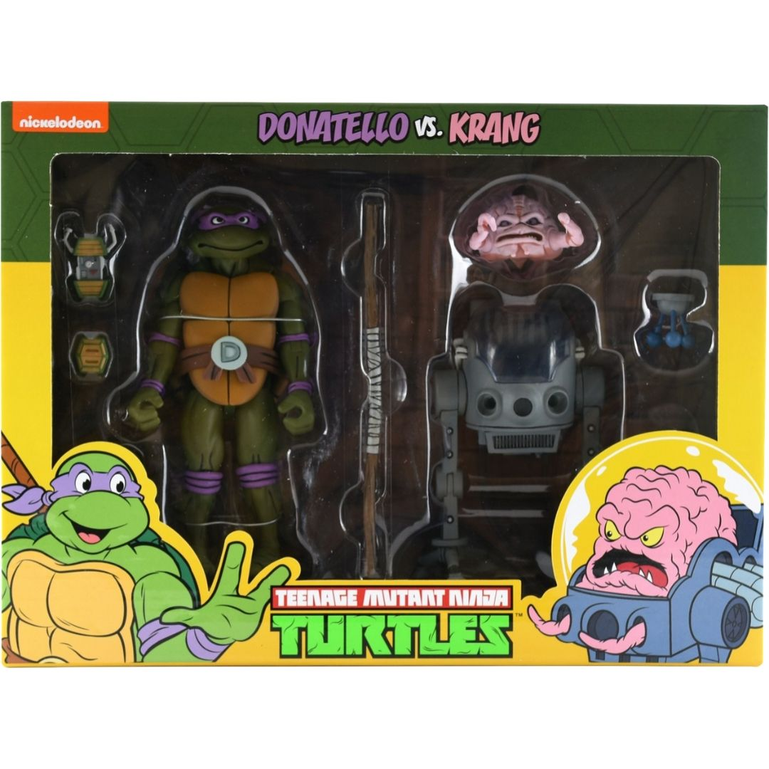 Teenage Mutant Ninja Turtles: Donatello vs. Krang Figure Set by Neca