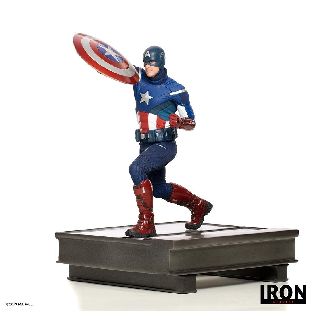 Avengers Endgame Captain America 2012 Battle Diorama Statue by Iron Studios