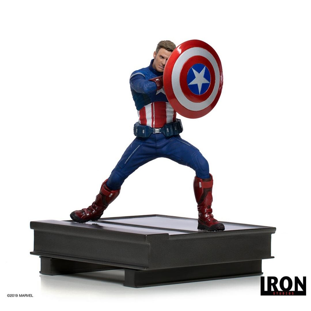 Avengers Endgame Captain America 2023 Battle Diorama Statue by Iron Studios