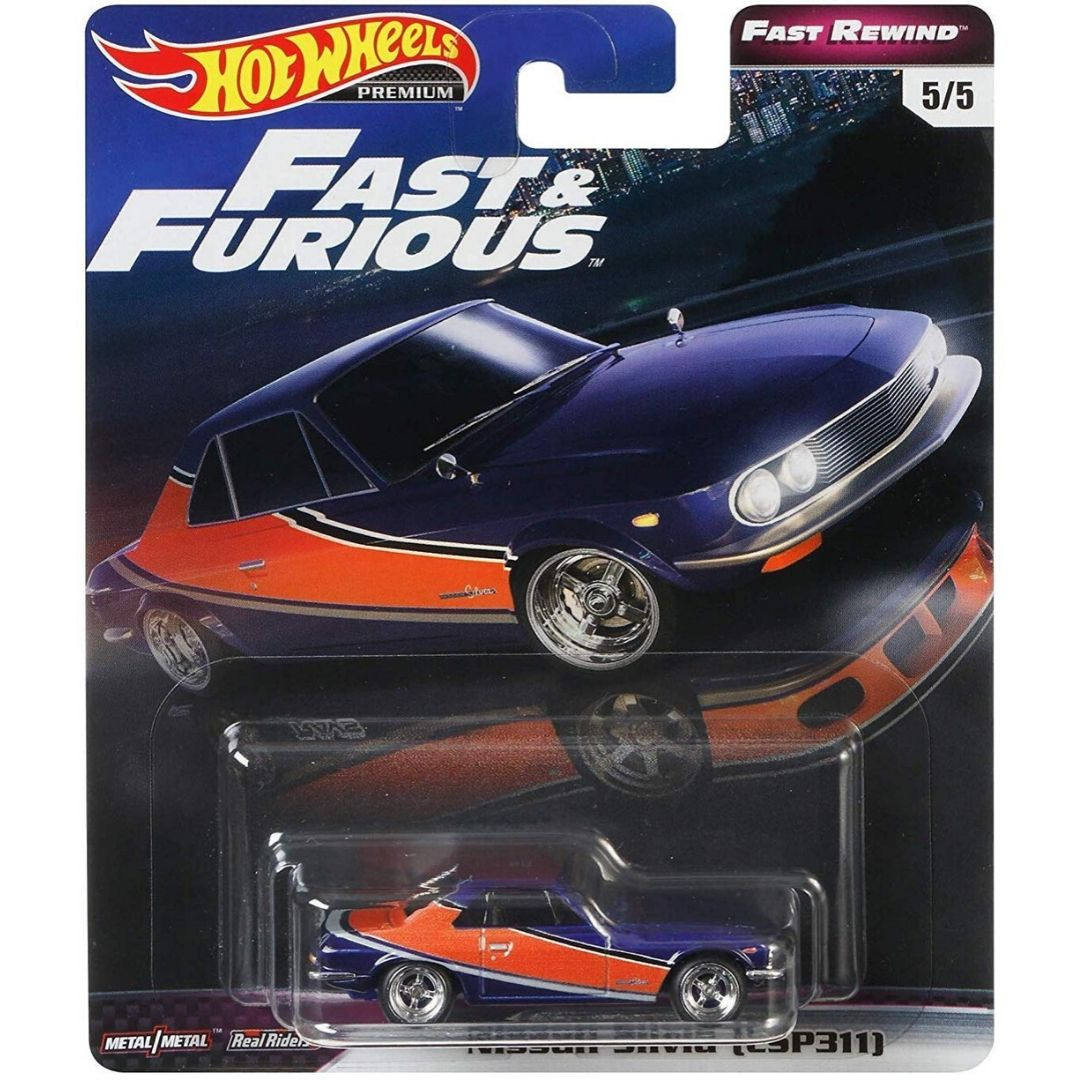 Fast & Furious Rewind Series 1:64 Scale Nissan Silvia Die-Cast Car by Hot Wheels