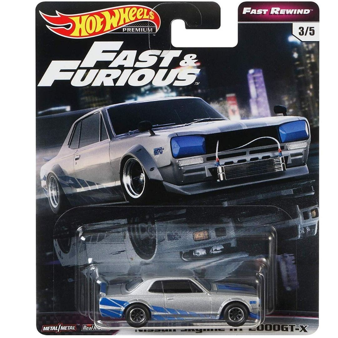 Fast & Furious Rewind Series 1:64 Scale Nissan Skyline HT 2000GT-X Die-Cast Car by Hot Wheels