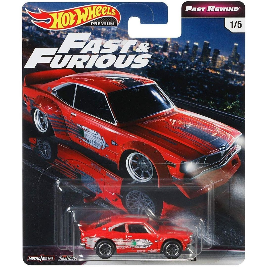 Fast & Furious Rewind Series 1:64 Scale Mazda RX-3 Die-Cast Car by Hot Wheels