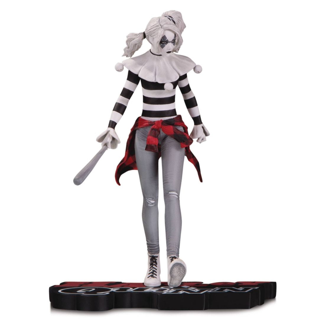Harley Quinn Red, White & Black Steve Pugh Statue by DC Collectibles -DC Collectibles - India - www.superherotoystore.com
