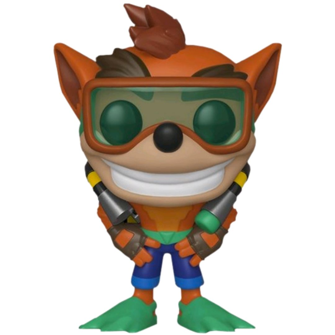 Crash Bandicoot with Scuba Gear Pop Vinyl Figure by Funko