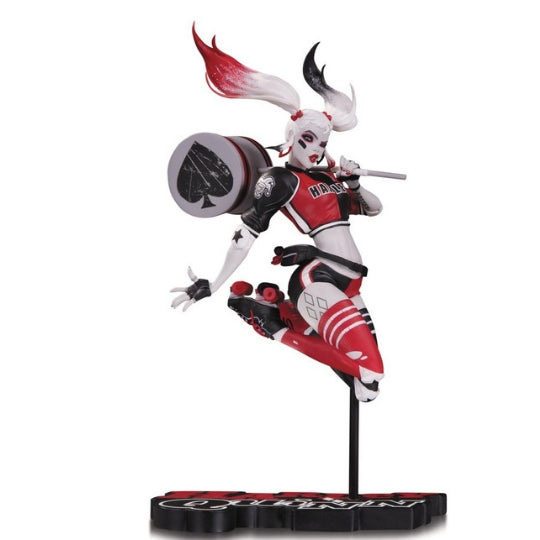 Harley Quinn Red, White and Black Statue by Babs Tarr & DC collectibles