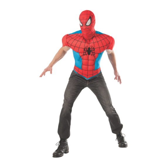 Adult Spiderman Costume Top and Mask by Rubies Costume Co.