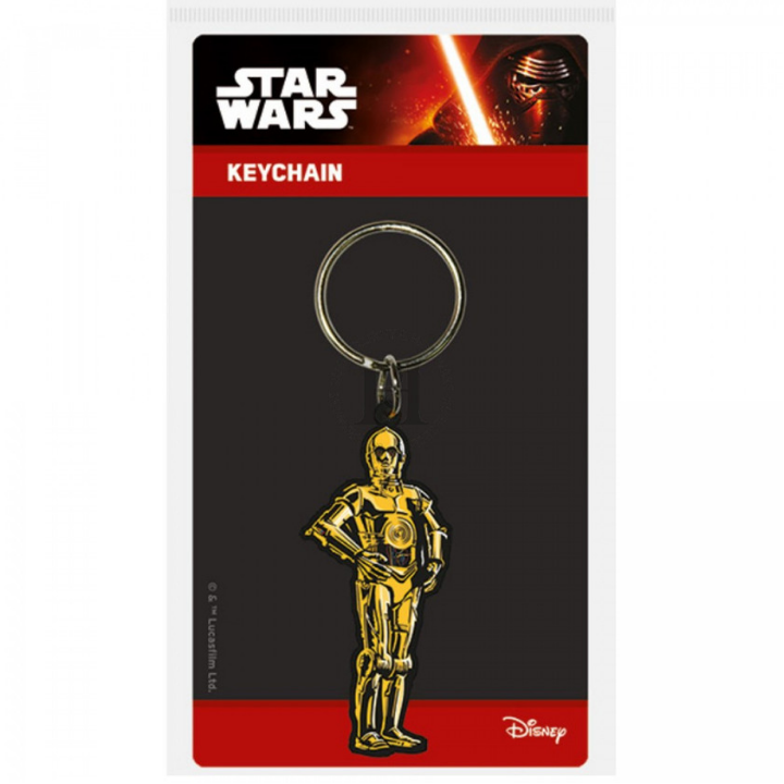 Star Wars C-3PO Rubber Keychain by Pyramid -Pyramid International - India - www.superherotoystore.com