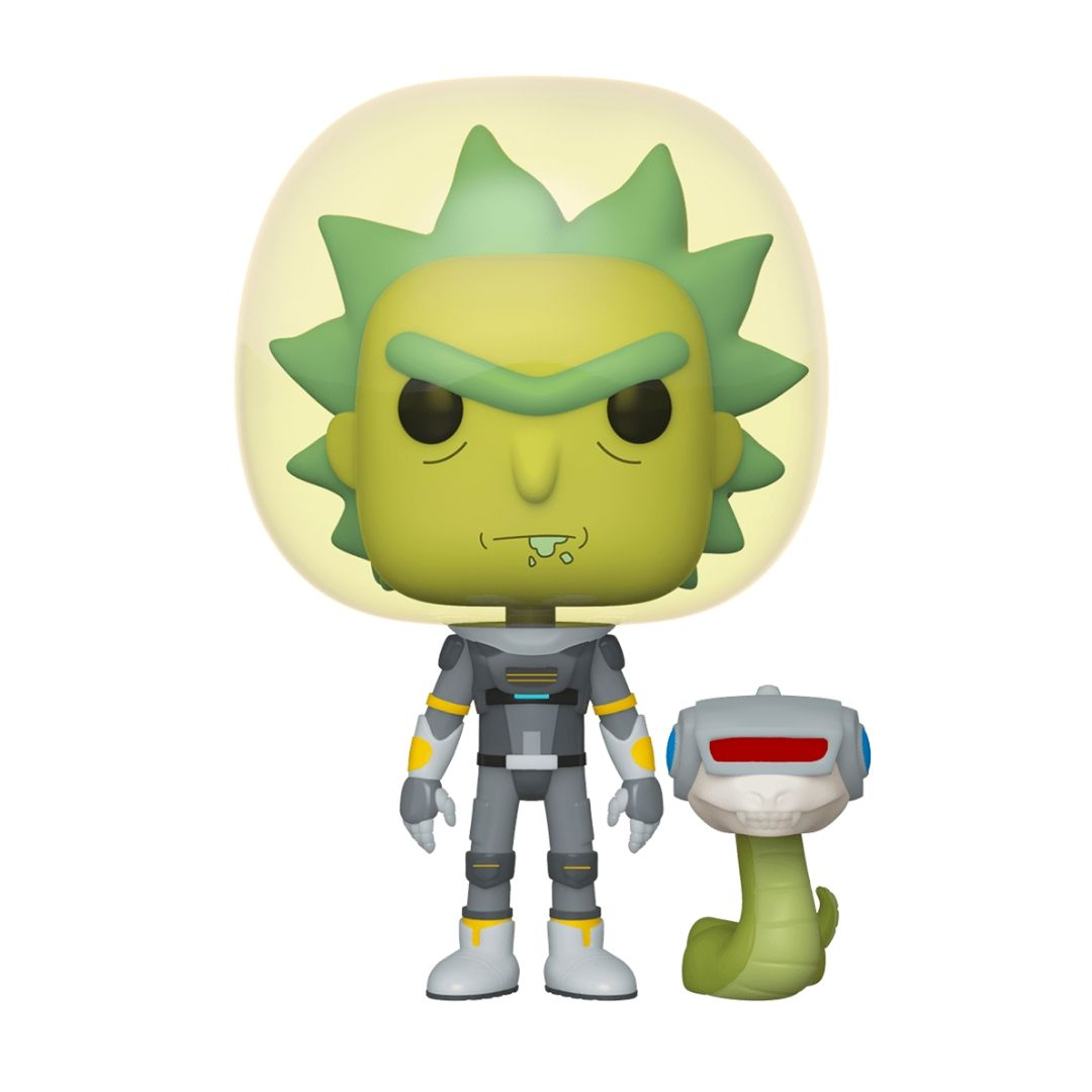 Rick & Morty Space Suit Rick with Snake Pop! Vinyl Figure by Funko