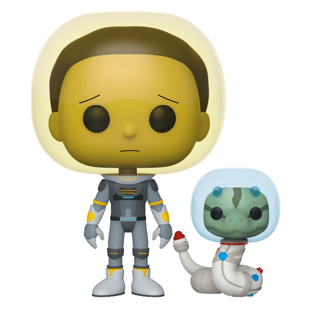 Rick & Morty Space Suit Morty with Snake Pop! Vinyl Figure by Funko -Funko - India - www.superherotoystore.com