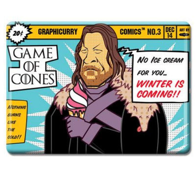 Game of Cones Magnet by Graphicurry -Graphicurry - India - www.superherotoystore.com