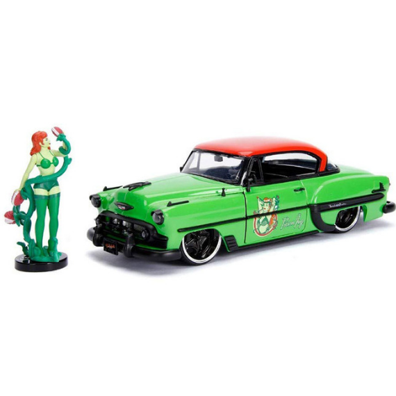 DC Bombshells Poison Ivy & 1:24 Scale 1953 Chevy Bel Air Die-Cast Car by Jada Toys