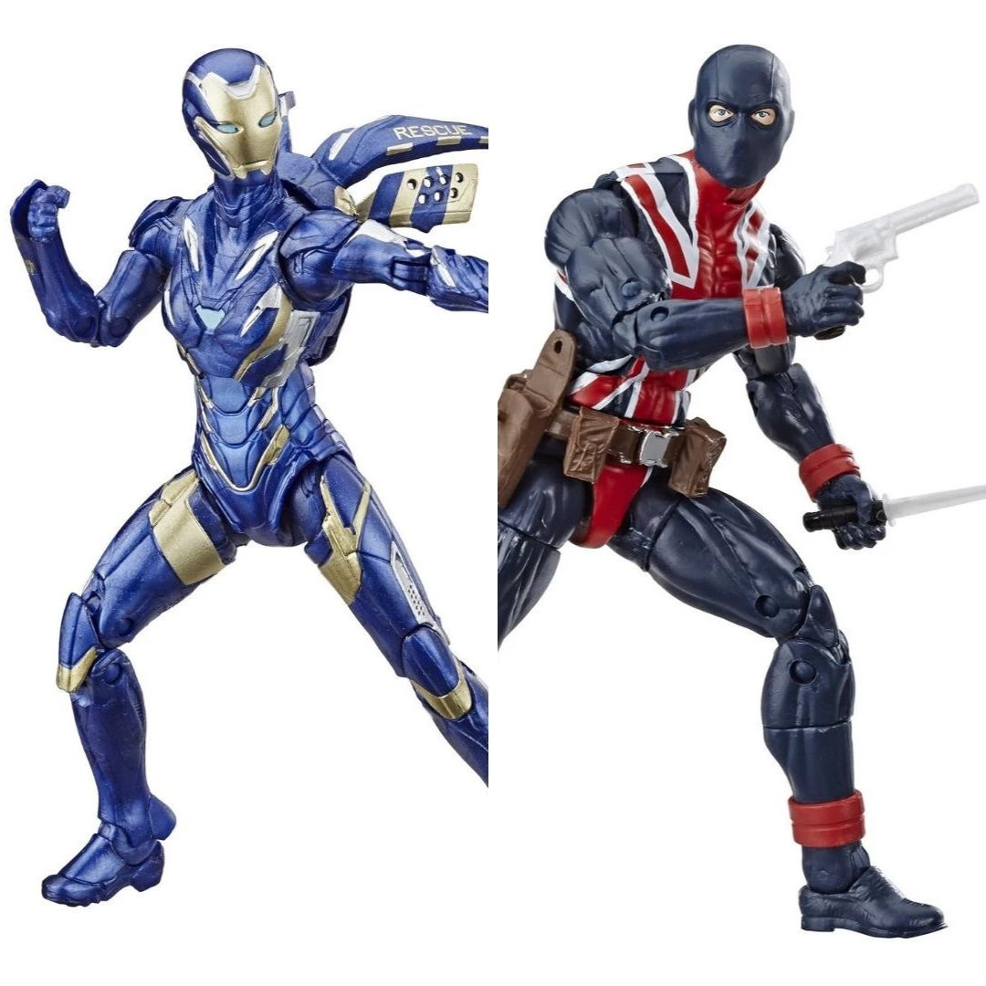 Avengers Endgame Rescue & Union Jack Marvel Legends 2-Pack Figures by Hasbro