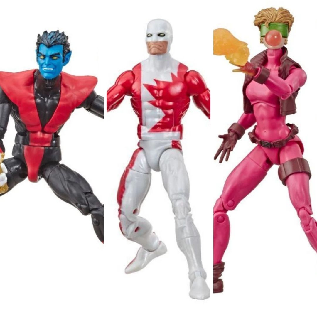 X-Men Nightcrawler, Alpha Guardian & Boom-Boom Marvel Legends Figures 3 Pack by Hasbro
