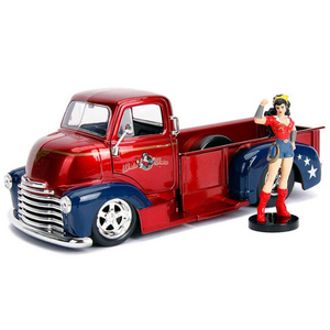 DC Bombshells Wonder Woman & 1:24 Scale 1952 Chevy COE Pick-up Die-Cast Car by Jada Toys