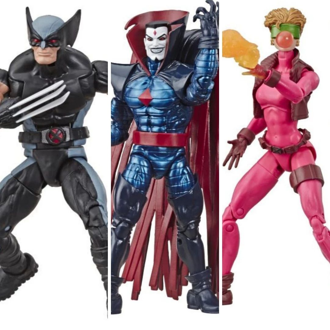 X-Men Wolverine, Sinister & Boom-Boom Marvel Legends Figures 3 Pack by Hasbro