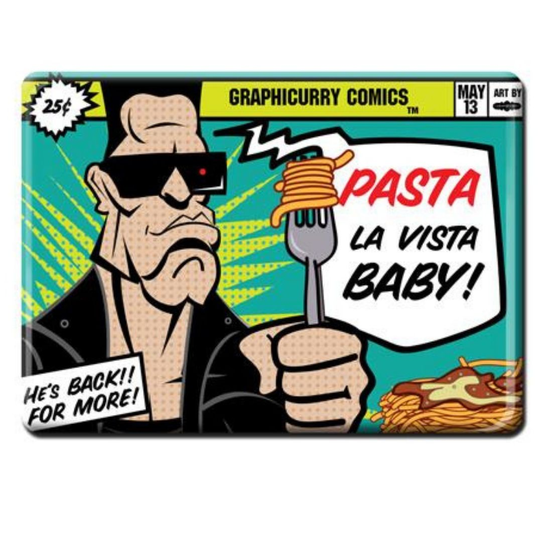 Pasta Magnet by Graphicurry -Graphicurry - India - www.superherotoystore.com