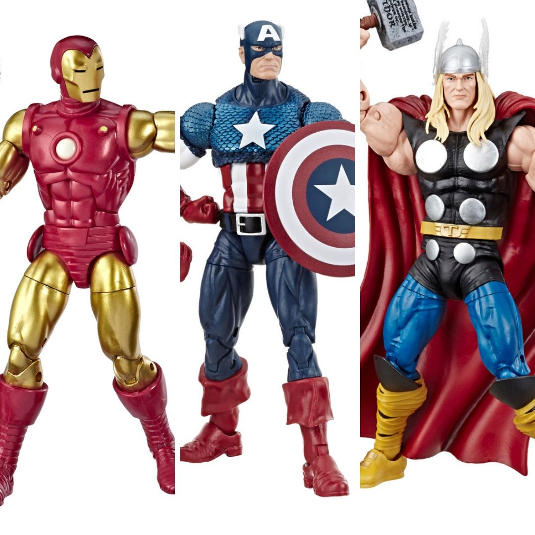 Marvel 80th Anniversary: Iron Man, Captain America & Thor Marvel Legends Figures by Hasbro