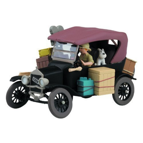 Adventures of Tintin - The Black Ford Car Scene by Moulinsart -Moulinsart - India - www.superherotoystore.com