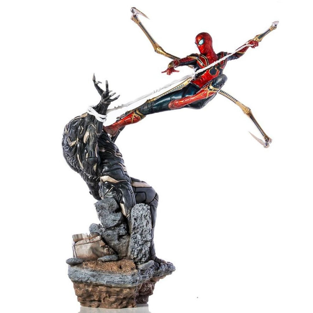 Avengers Endgame Iron Spider Vs Outrider 1:10th Scale Statue by Iron Studios -Iron Studios - India - www.superherotoystore.com
