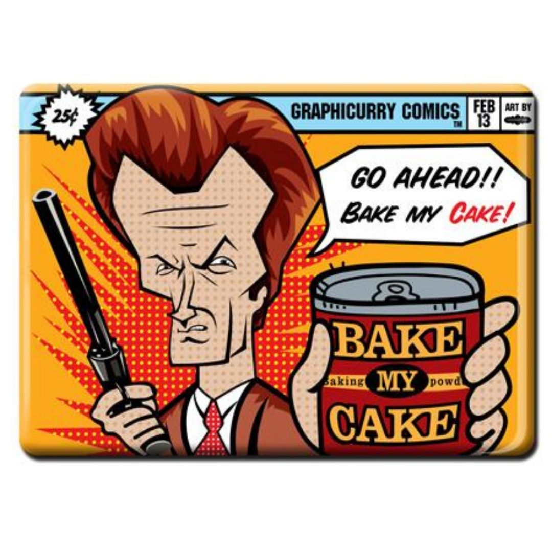 Cake Magnet by Graphicurry -Graphicurry - India - www.superherotoystore.com