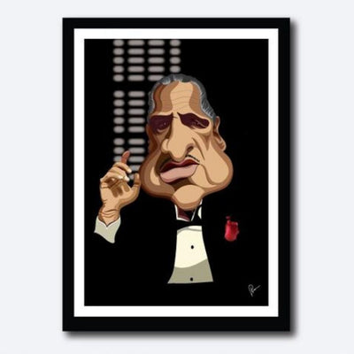 Godfather Poster by Graphicurry -Graphicurry - India - www.superherotoystore.com