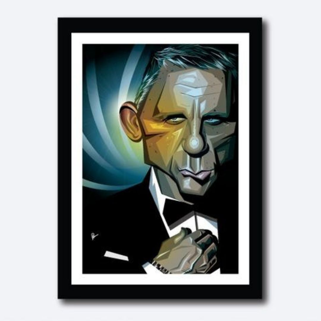 Bond Poster by Graphicurry -Graphicurry - India - www.superherotoystore.com