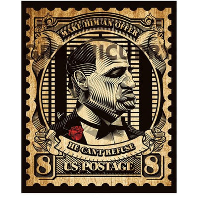 The Godfather Stamp Wall Art by Graphicurry -Graphicurry - India - www.superherotoystore.com
