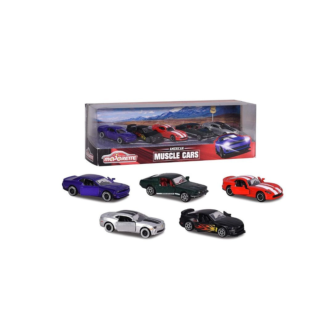 America Muscle Car 5 Pack by Majorette -Majorette - India - www.superherotoystore.com