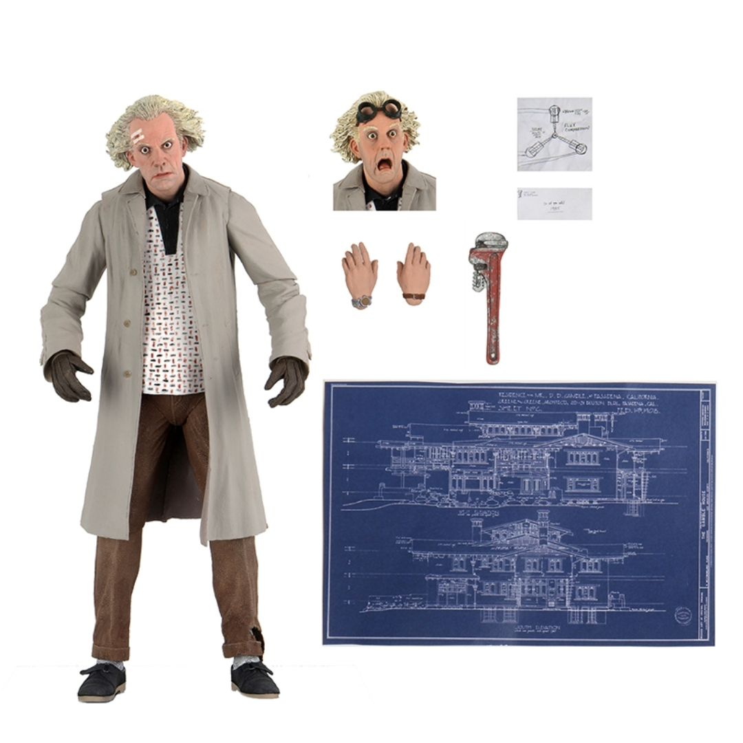 Back to the Future Doc Brown Action Figure by NECA -NECA - India - www.superherotoystore.com