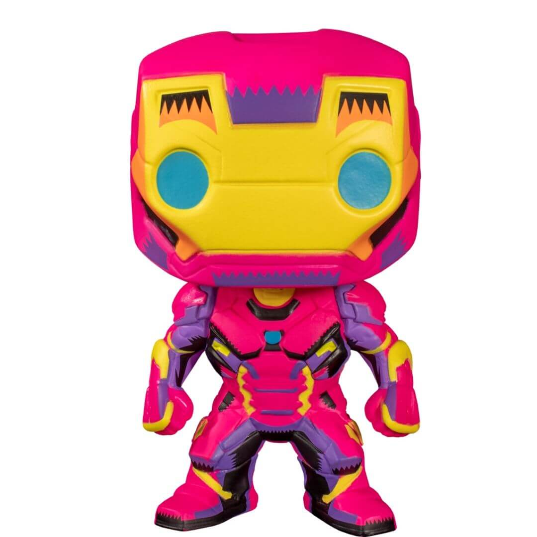 Marvel Comics: Black Light Iron Man Pop! Vinyl Figure by Funko -Funko - India - www.superherotoystore.com