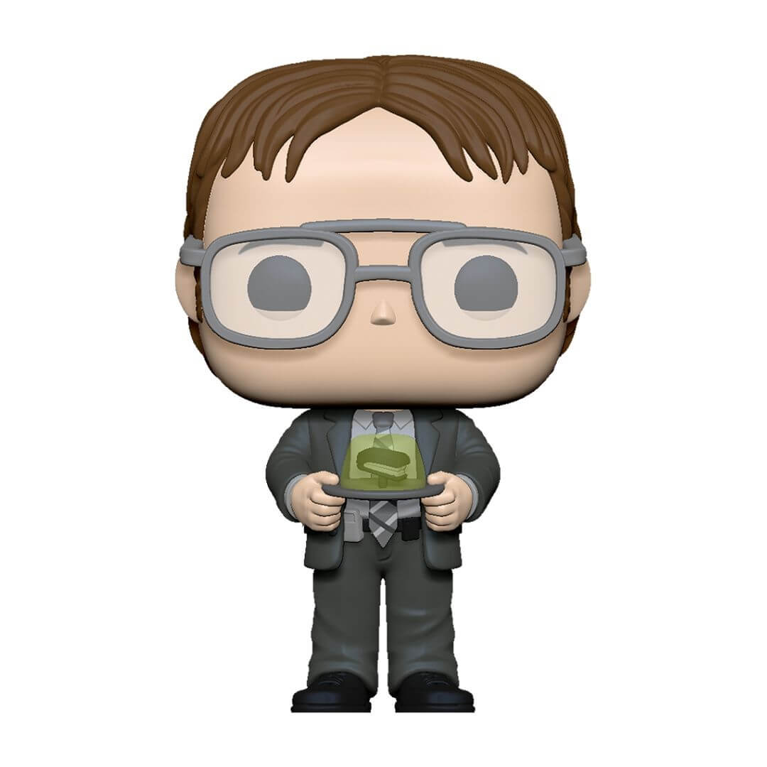 The Office Dwight with Jello Stapler Pop! Vinyl Figure by Funko