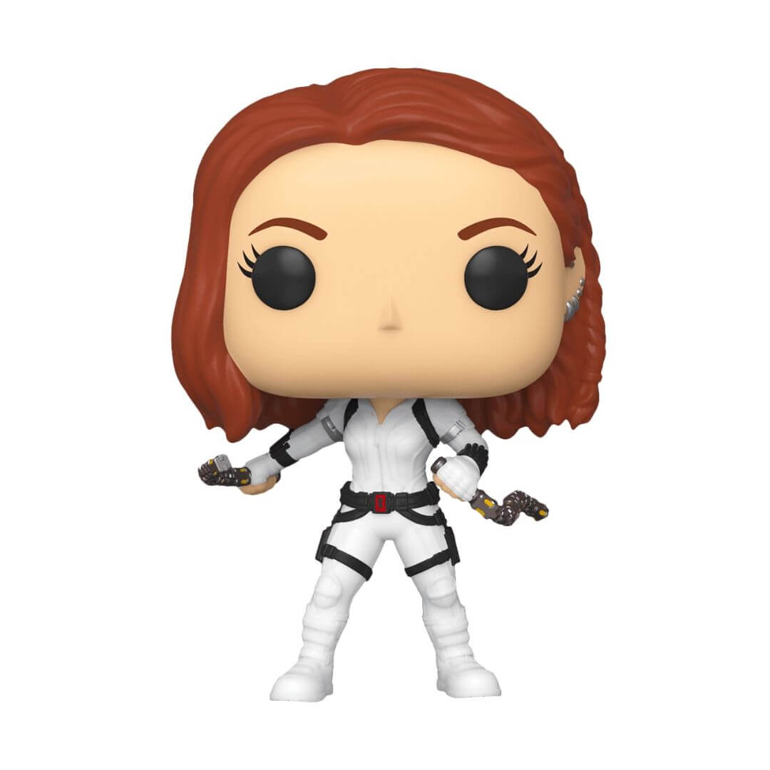 Black Widow Movie: White Suit Black Widow Pop! Vinyl Bobble-Head by Funko -Funko - India - www.superherotoystore.com