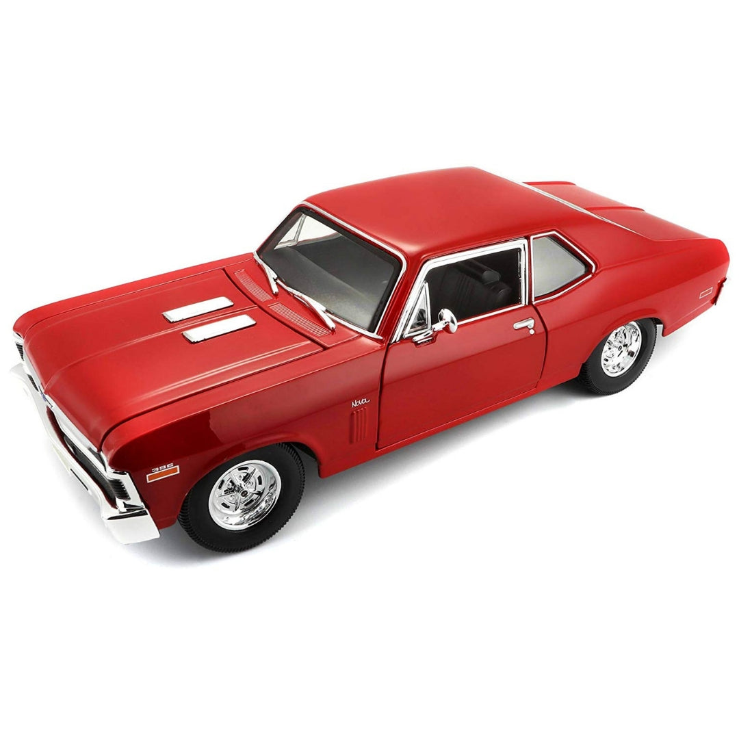 1:18 Scale 1970 Chevrolet Nova SS (Red) Die-Cast Car by Maisto