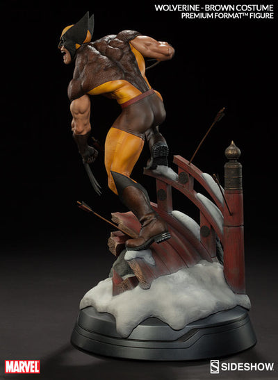 X-Men Wolverine Brown Costume 1/4th Scale Premium Format Figure by Sideshow Collectibles-Sideshow Collectibles- www.superherotoystore.com-Statue - 7