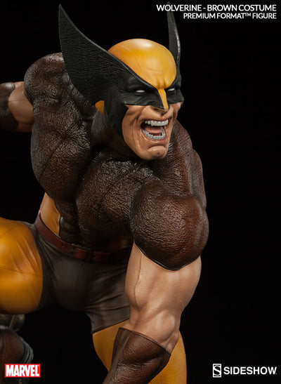 X-Men Wolverine Brown Costume 1/4th Scale Premium Format Figure by Sideshow Collectibles-Sideshow Collectibles- www.superherotoystore.com-Statue - 3