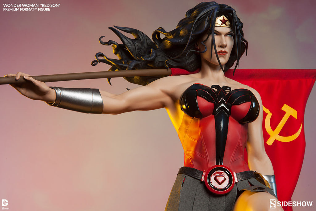 Wonder Woman Red Son 1/4th Scale Premium Format Figure by Sideshow Collectibles-Sideshow Collectibles- www.superherotoystore.com-Statue - 3