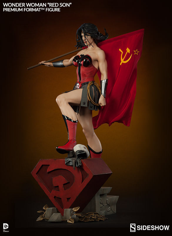 Wonder Woman Red Son 1/4th Scale Premium Format Figure by Sideshow Collectibles-Sideshow Collectibles- www.superherotoystore.com-Statue - 4