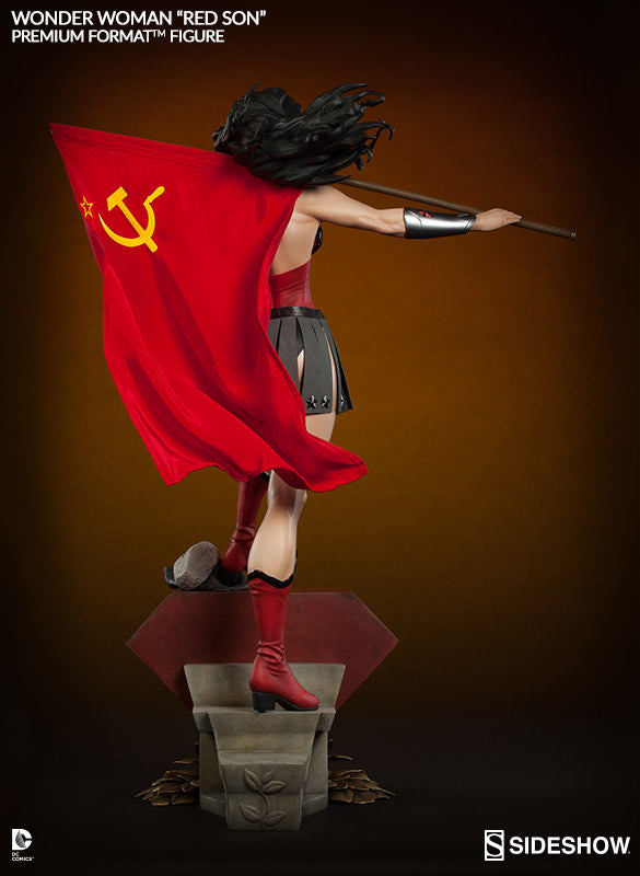 Wonder Woman Red Son 1/4th Scale Premium Format Figure by Sideshow Collectibles-Sideshow Collectibles- www.superherotoystore.com-Statue - 5