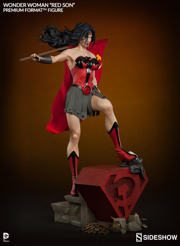 Wonder Woman Red Son 1/4th Scale Premium Format Figure by Sideshow Collectibles-Sideshow Collectibles- www.superherotoystore.com-Statue - 6